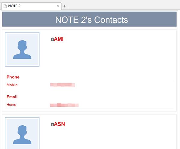 Choisissez tous les contacts