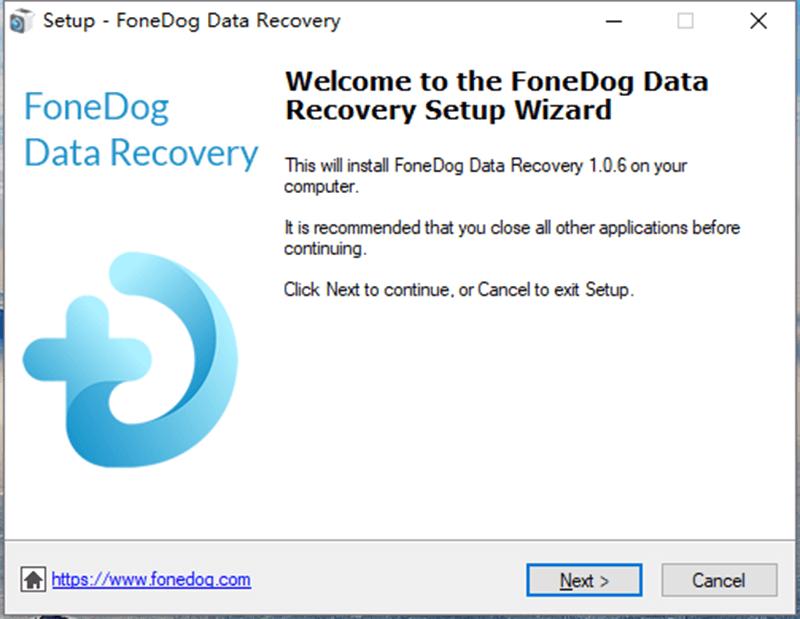 FoneDog數據恢復設置