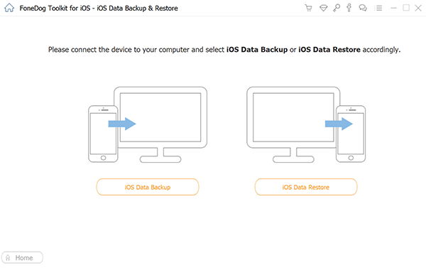 Choose iOS Data Backup Option