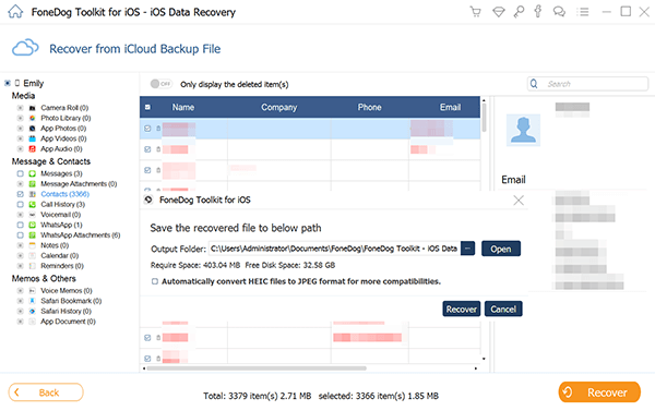recover deleted data from iCloud Backup