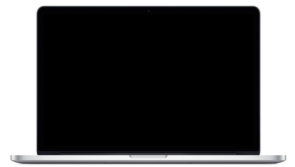 Schermo nero per Macbook Pro