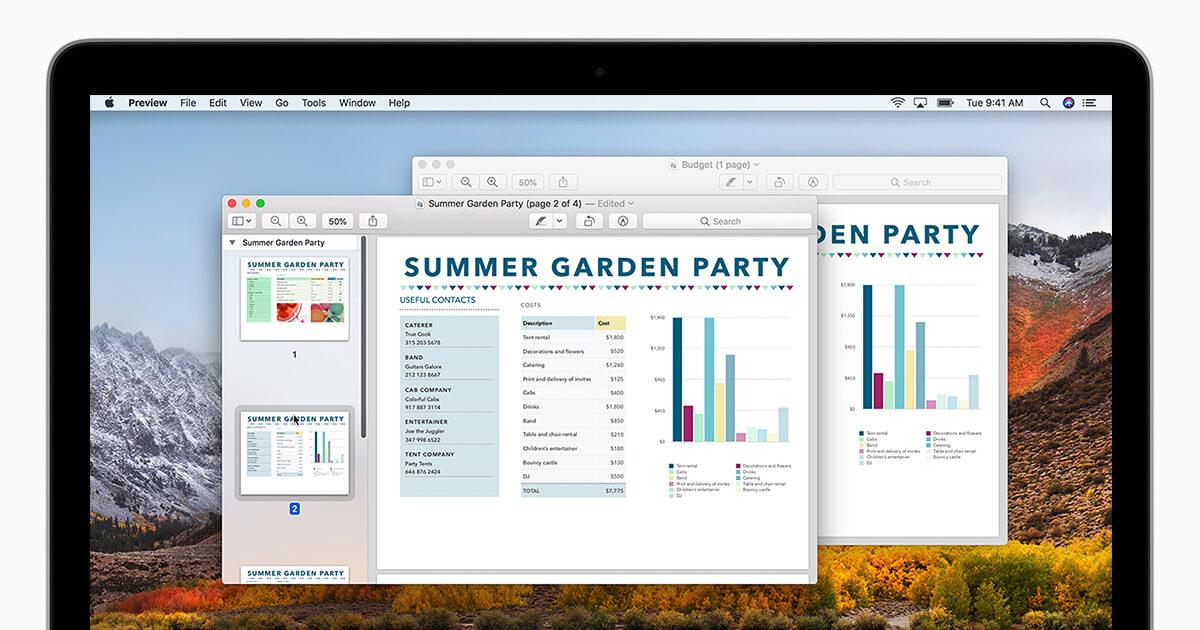 在Mac上组合PDF文件
