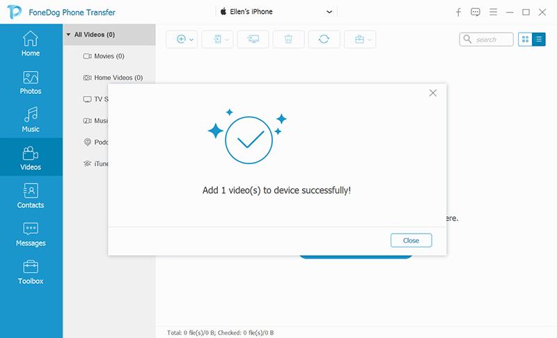 将文件从PC成功传输到iPad