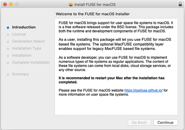 Osxfuse Install Introduction