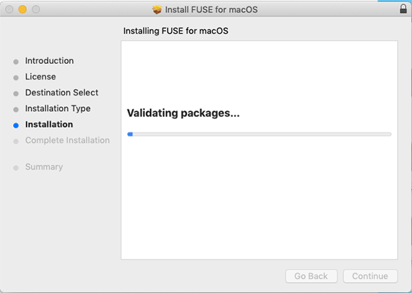 Osxfuse Install Validating