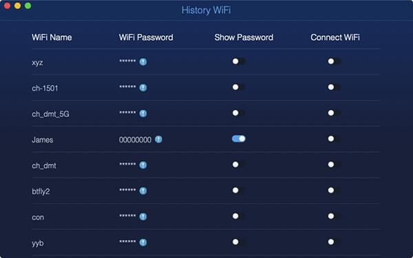 WLAN-Netzwerk-Sweep Watch-Passcode