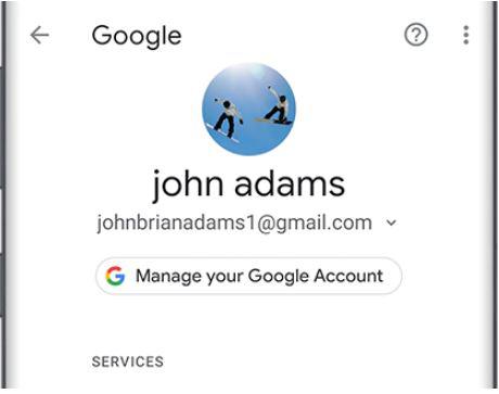 Restaurer les contacts depuis Gmail