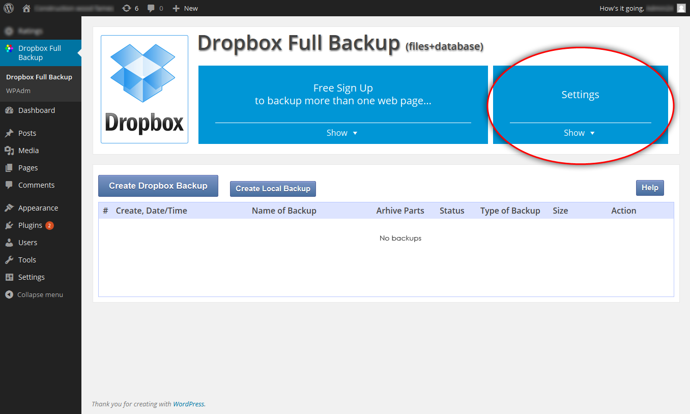Dropbox For Backup