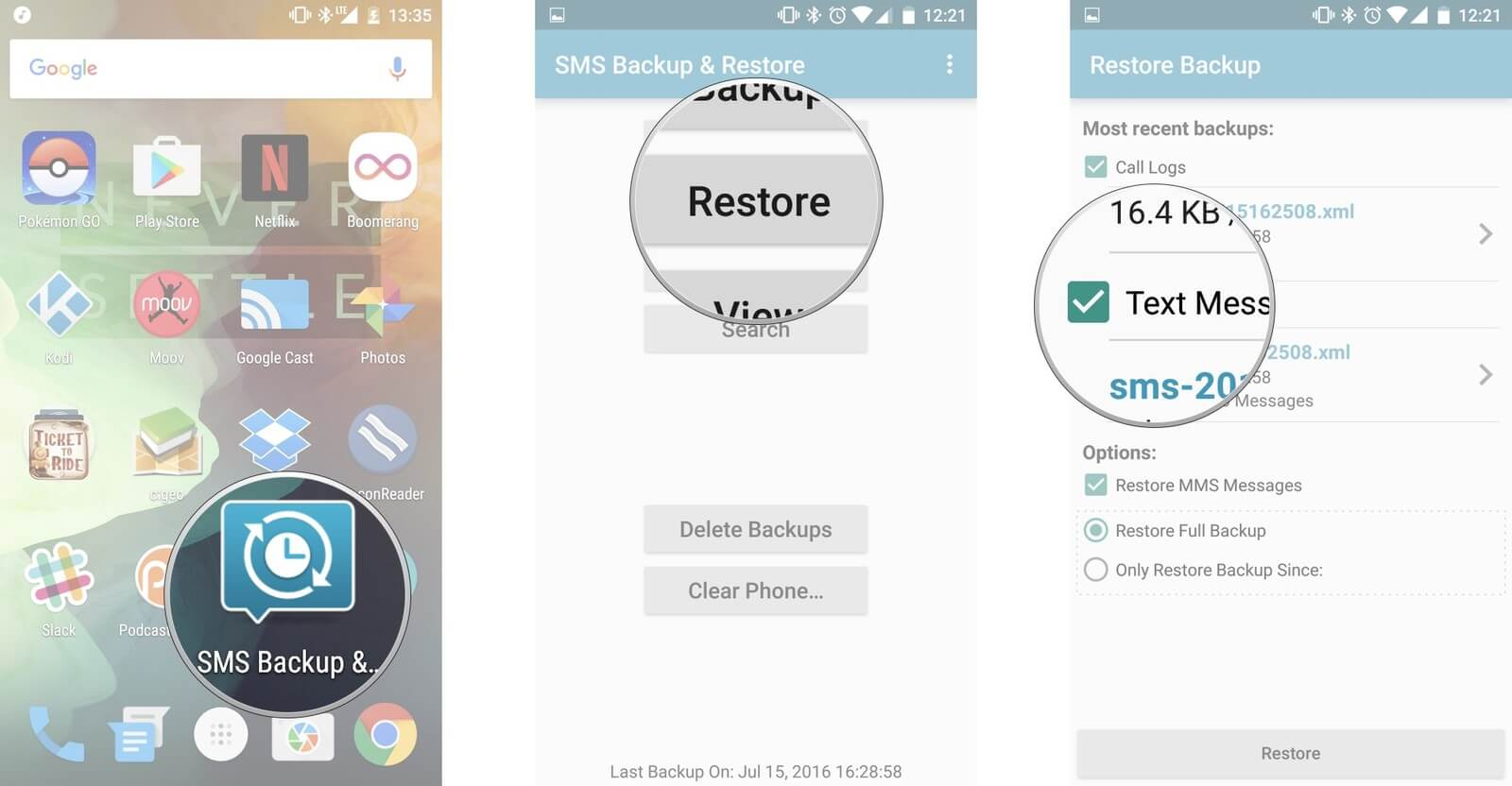 Learn to Restore Deleted Text Messages from Asus ZenFone