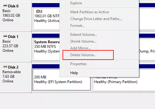 Create an EFI System Partition