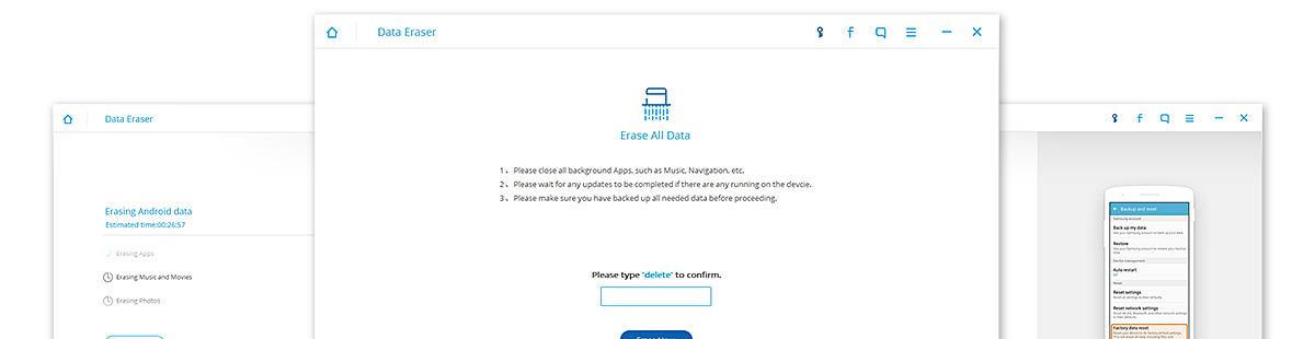 Fondog Bannière Gomme pour données Android
