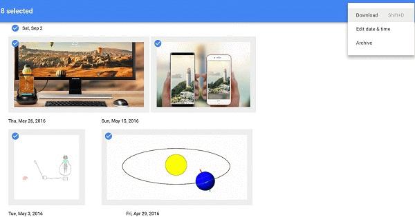 将Google照片下载到PC