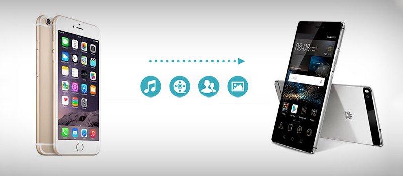 使用Huawei App将iPhone文件切换到Huawei P30