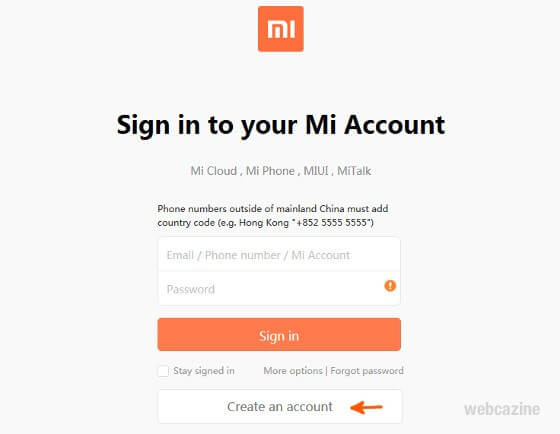 Recover From Xiaomi Account