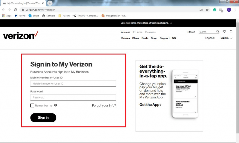 how to read verizon messages online