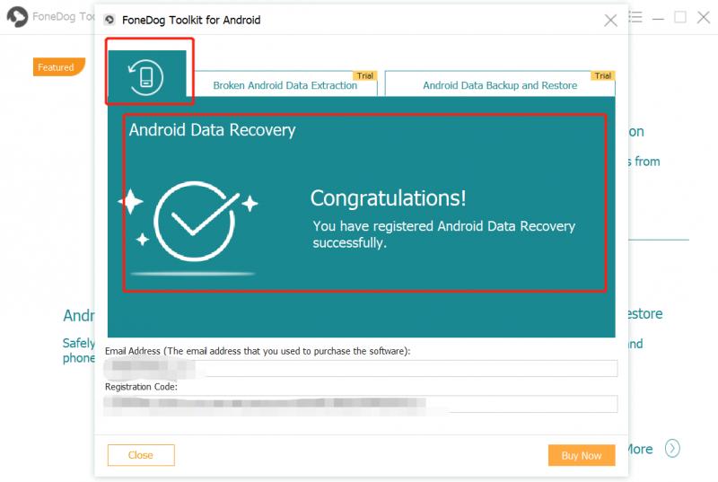 Récupération de données Android Register