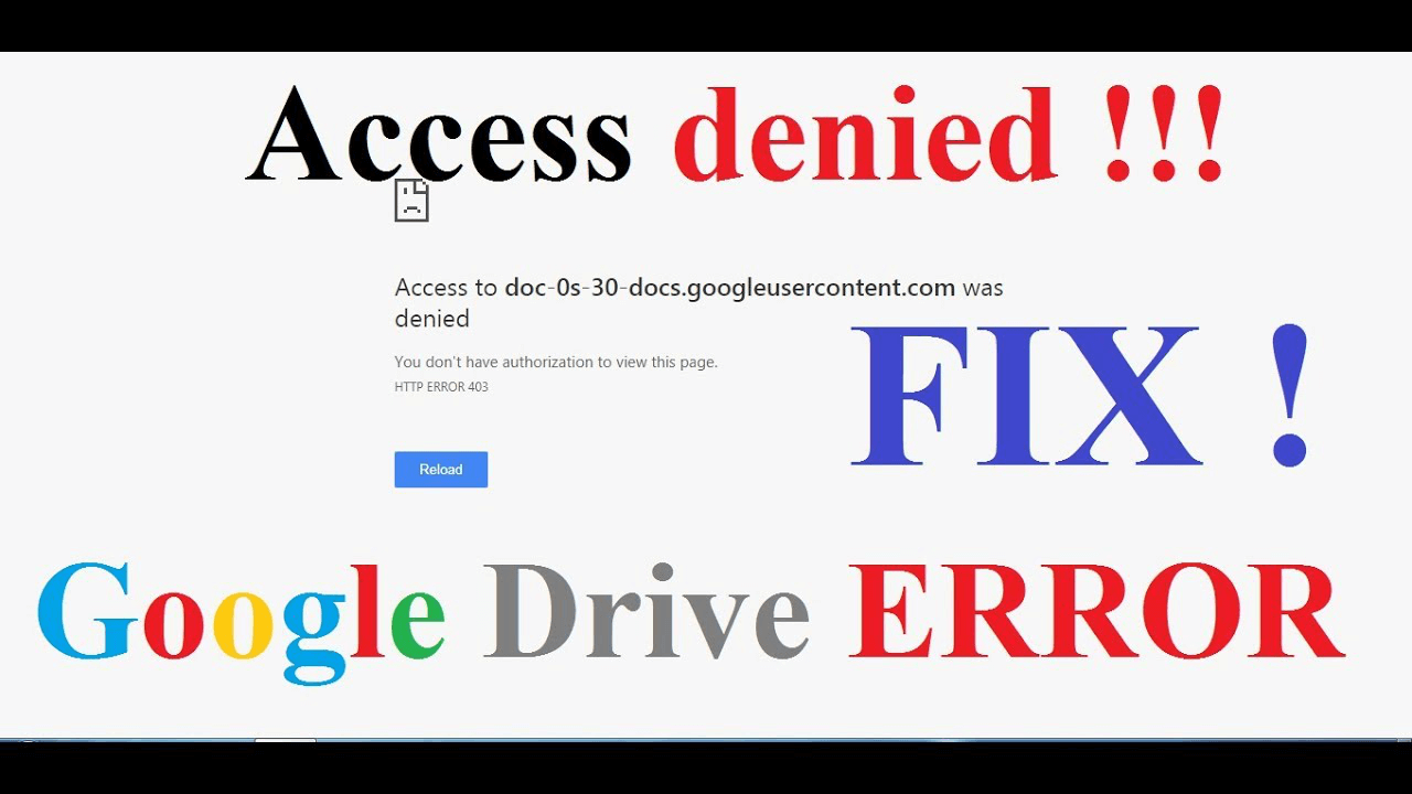 "A Guide on How to Fix "" Google Drive Access Denied"""