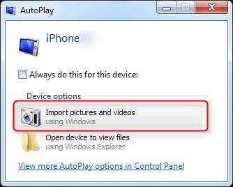 自動播放到備份照片到電腦