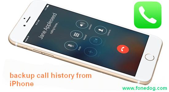 Sauvegarde de l'historique des appels Iphone