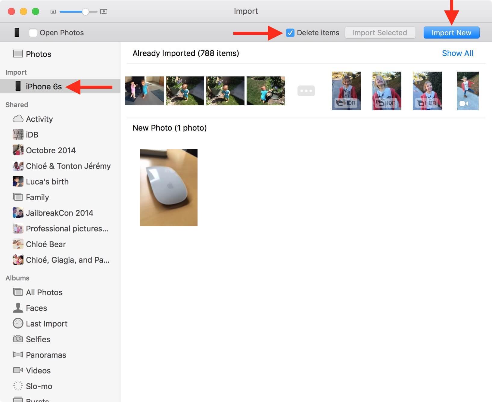 備份照片功能於照片,應用程序