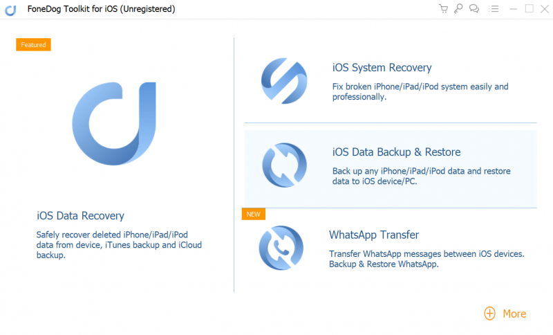 Registra Fonedog ios Data Recover