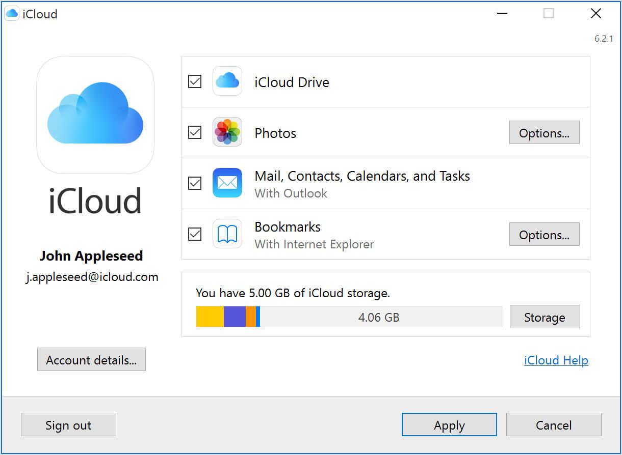iCloudプロセスがiCloud 5GBを取る時間
