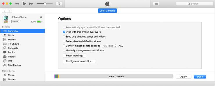 Itunes Backup Wireless Sync