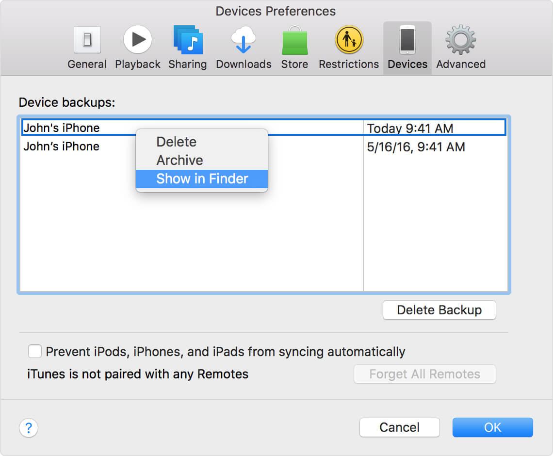 在Mac上找到Itunes