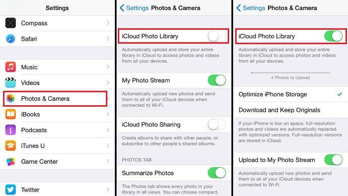 ridurre-size-foto-biblioteca-icloud