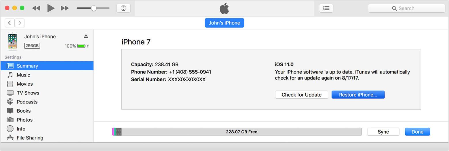 restaurer les photos de l'iphone