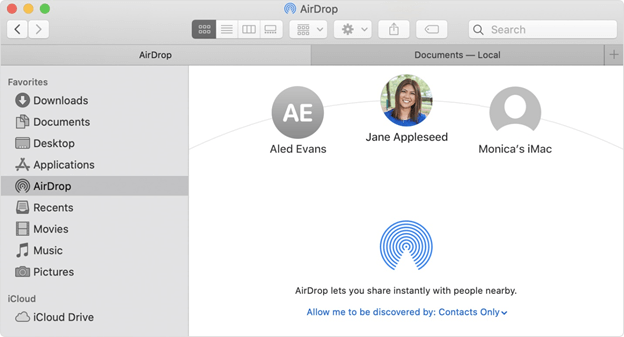 Airdrop iPhone Contacts to Your Mac