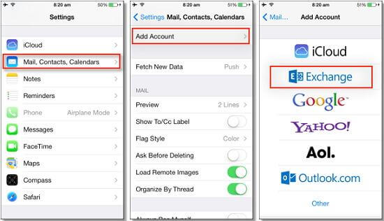 How to Export iPhone Contacts through E-mail