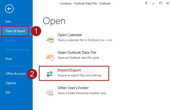 export contact from iCloud to Outlook
