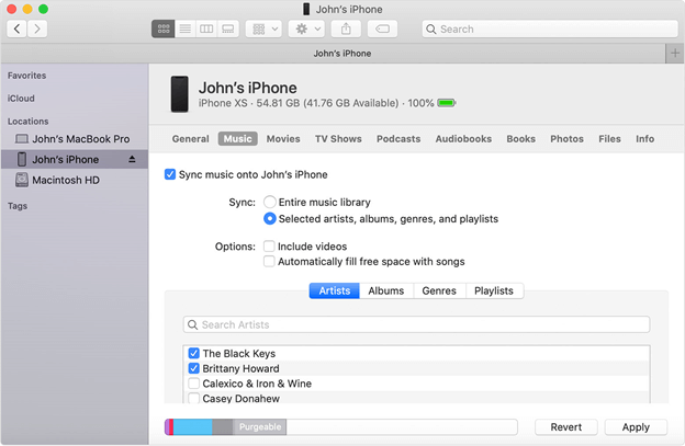 Transfer iPhone Contacts to Mac with Finder