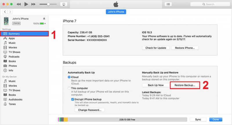 Récupérer des photos supprimées de manière définitive à partir de l'iPhone à l'aide de la sauvegarde iTunes