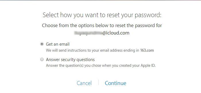 Restablecer contraseña de ID de Apple