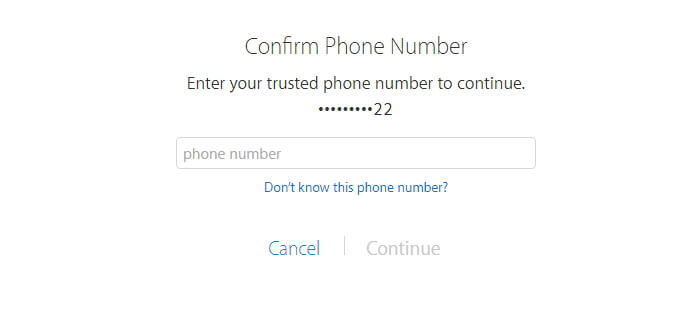 Reset Appleid Password By Confirming Phone Number