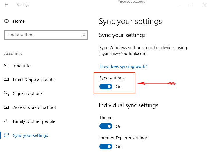 Sync Your Settings Properly to Fix Windows 10 Update Wiped My Hard Drive