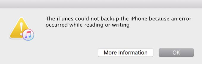 iTunes n'a pas pu restaurer l'iPhone car une erreur s'est produite lors de la lecture