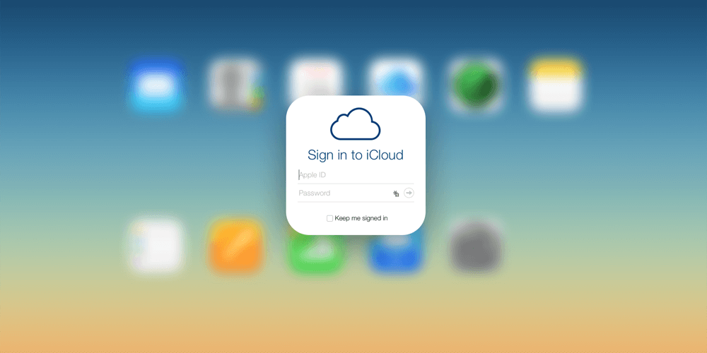 Sign Into Icloud