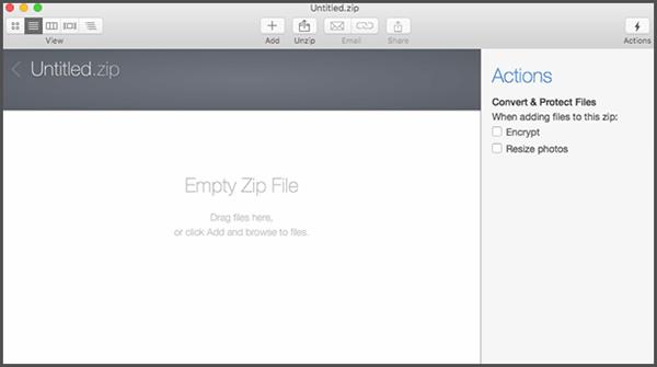 Create Password Protect Zip File in Mac