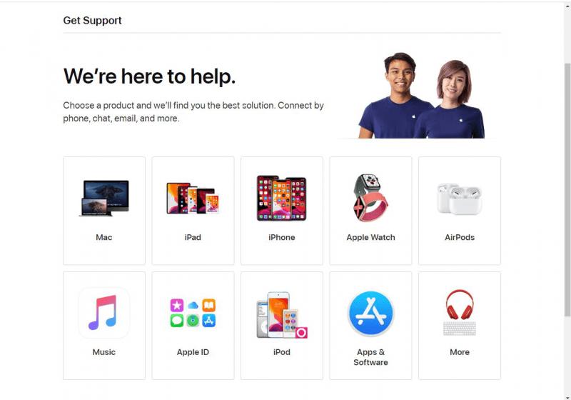 Contactez les services Apple pour réparer l'iPhone 8 bloqué sur le logo Apple