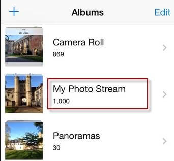 Photo Stream Albumes