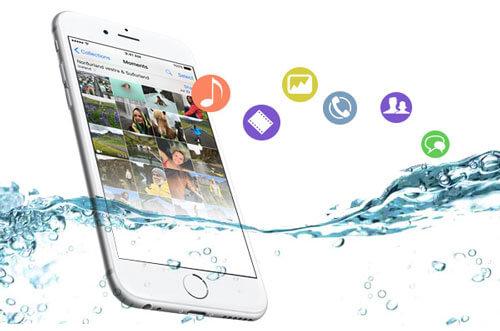 水が壊れたiPhoneからデータを回復する