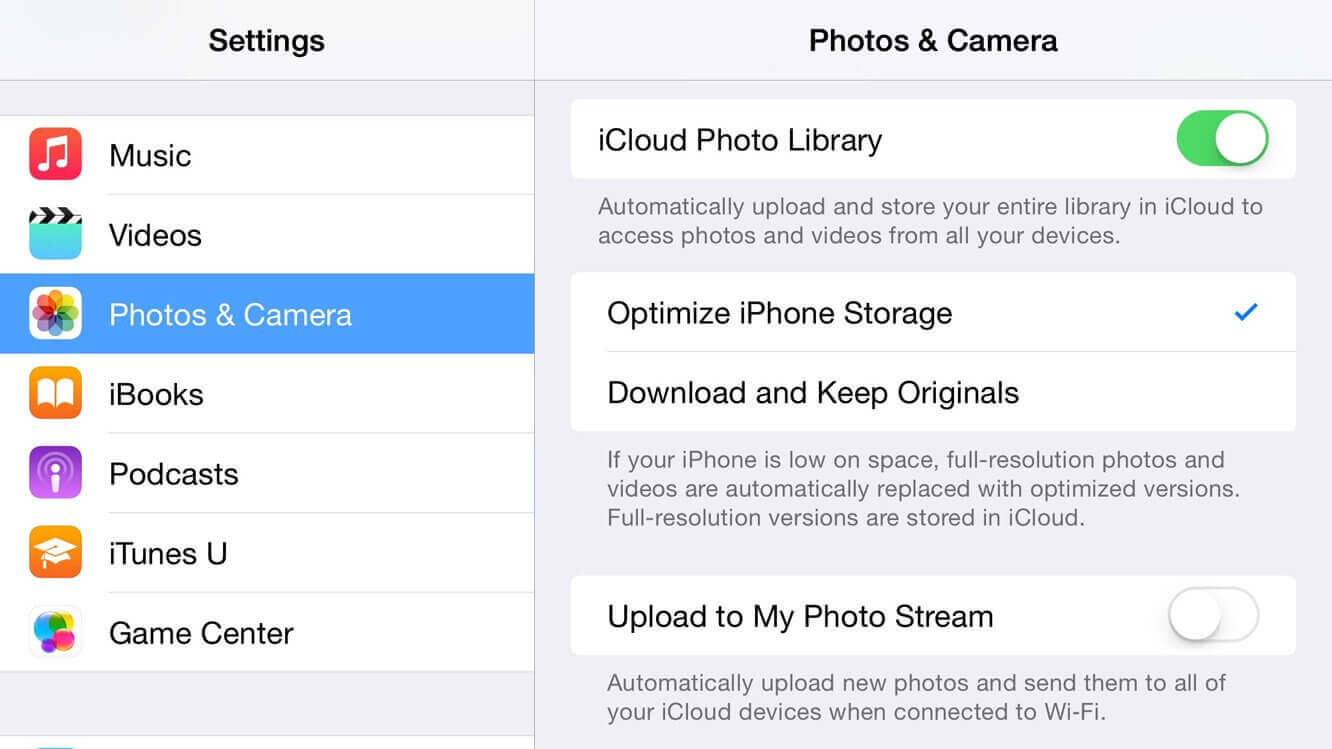 how to clear photo library on an iphone