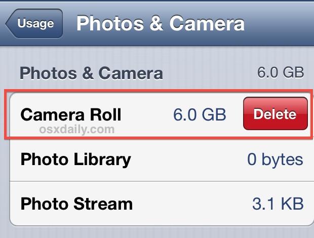 как удалить с iphone все фото