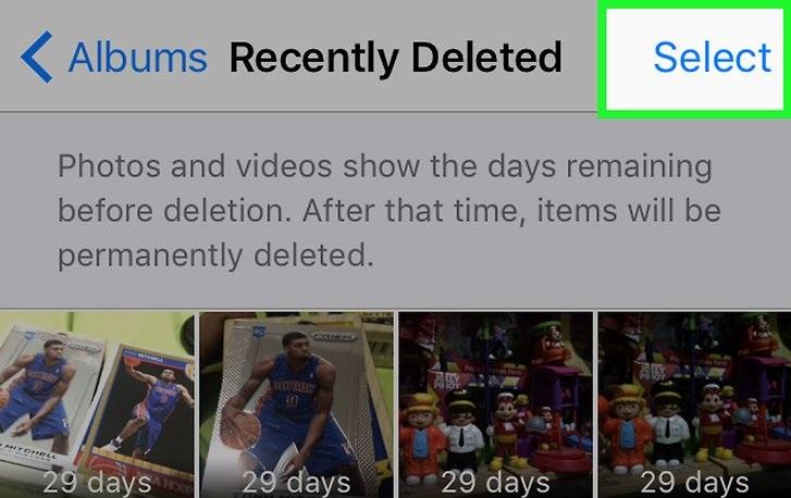 Supprimer les photos récentes de l'Iphone