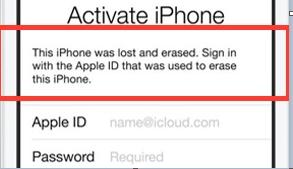 Entrer un identifiant Apple à effacer