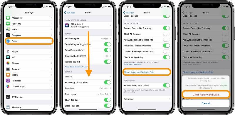 Cómo borrar caché Iphone Safari