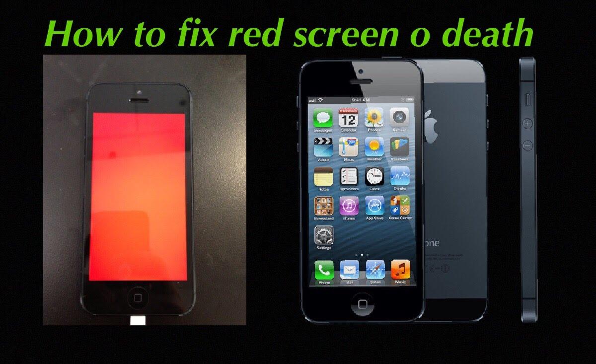修复红屏死机Iphone